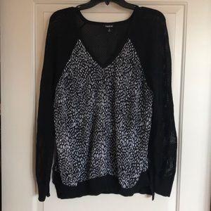 Torrid Fishnet and Cheetah Sweater